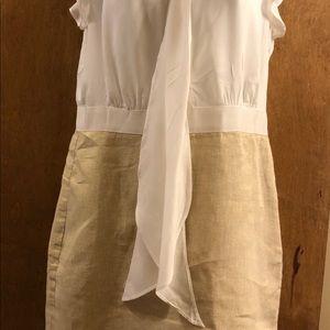 Cream and white summer dress